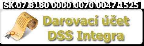Darovací účet DSS INTEGRA